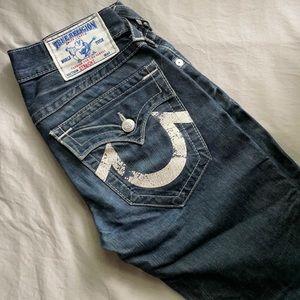 True religion size 27 straight leg denim